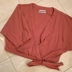 Urban Outfitters - Pink Kimono Wrap Top